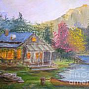 Cabin Home Art Print