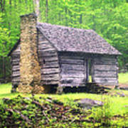 Cabin In The Smokies Art Print