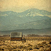 Cabin With Mountain Views Art Print