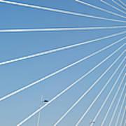 Cable Bridge Detail Art Print