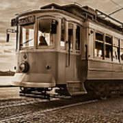 Cable Car In Porto Portugal Art Print