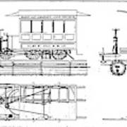 Cable Car Patent, 1873 Art Print