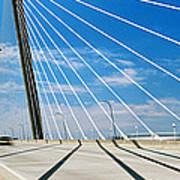 Cable-stayed Bridge, Arthur Ravenel Jr Art Print