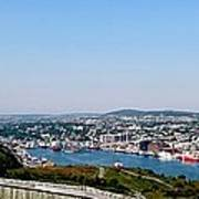 Cabot Tower Overlooking The Port City Of St. John's Art Print