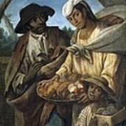Cabrera, Miguel 1695-1768. De Lobo Y De Art Print