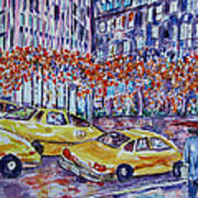 Cabs New York Art Print