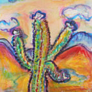 Cactus And Clouds Art Print
