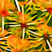 Cactus Pattern 3 Yellow Art Print by Amy Vangsgard