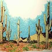 Cactus With A 'tude Art Print