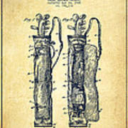 Caddy Bag Patent Drawing From 1905 - Vintage Art Print