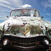 Cadillac At The Beach Art Print