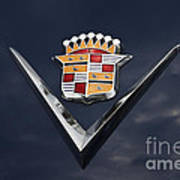 Cadillac Crest Art Print