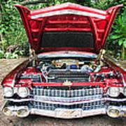 Cadillac Engine Art Print