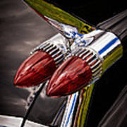 Cadillac Fin Art Print by Phil 'motography' Clark