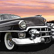 Cadillac Sunset Art Print