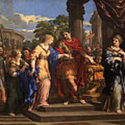 Caesar Giving Cleopatra The Throne Of Egypt, C.1637 Oil On Canvas Art Print