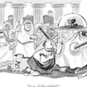 Caesar Is Murdered By Historical Mob Art Print
