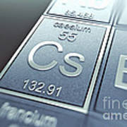 Caesium Chemical Element Art Print