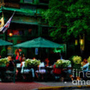 Cafe Alfresco Art Print