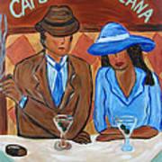 Cafe Americana Art Print