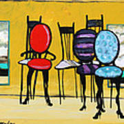 Cafe Chairs Art Print