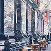 Cafe Della Pace East 7th Street New York City Print by Anthony Butera