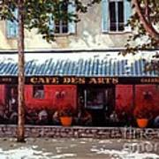 Cafe Des Arts   Art Print by Michael Swanson