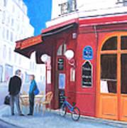 Cafe Des Musees Paris Art Print