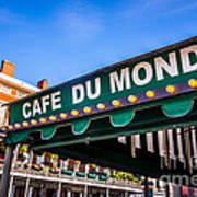 Cafe Du Monde Picture In New Orleans Louisiana Art Print
