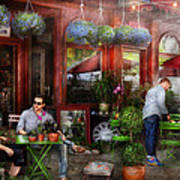 Cafe - Hoboken Nj - A Day Out  Art Print