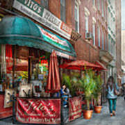 Cafe - Hoboken Nj - Vito's Italian Deli  Print by Mike Savad