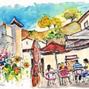Cafe In Barca De Alva Art Print