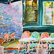 Cafe In Montmartre Art Print