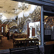 Cafe Italiano Night Usa Art Print