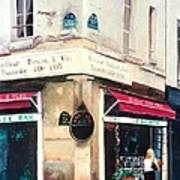 Cafe Le Barometre In Paris Art Print