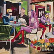 Cafe Marseille Art Print