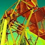 Caged Ferris Wheel Art Print