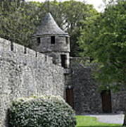 Cahir Castle Wall And Tower Art Print
