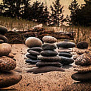 Cairn Whitefish Point Michigan Art Print