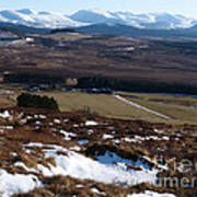 Cairngorms Mountains From Dorback Art Print