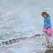 Cait At Dugan's Cove Art Print