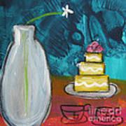 Cake And Tea For Two Art Print