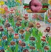 Cake Burger Art Print