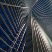 Calatrava Lines At The Blue Hour Art Print