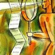 Calculation Art Print by Leon Zernitsky