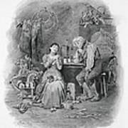Caleb Plummer And His Blind Daughter Art Print