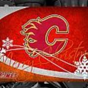 Calgary Flames Christmas Art Print
