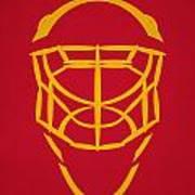 Calgary Flames Goalie Mask Art Print