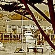 California Coastal Harbor Art Print