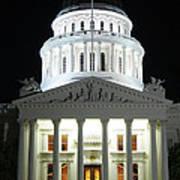 California State Capitol At Night Art Print